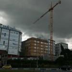 Pluma de construción en Eiris