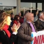 Yolanda Díaz súmase á concentración de apoio a Nicanor Acosta