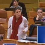 Díaz critica a Feijóo no Pleno ao xustificar o acoso sexual e defender ao presidente da Deputación de Ourense