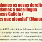 EU fai un chamamento á participación na manifestación do Día das Letras Galegas