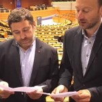 Ramón Vázquez e Javier Couso rexistran no Parlamento Europeo unha petición para investigar o posible uso fraudulento de Fondos de Cohesión, por parte da Xunta de Galicia, en Rozas