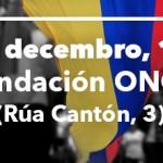 Enrique Santiago, Eva Solla e Christian Camargo falan sobre o proceso de paz en Colombia