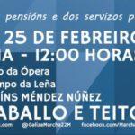 EU fai un chamamento á participación na mobilización das Marchas da Dignidade en defensa das pensións públicas este sábado 25 de febreiro
