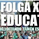 Esquerda Unida secunda a folga educativa de docentes, alumnado e familias convocada para este xoves 9 de marzo