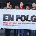Esquerda Unida apoia a folga indefinida do persoal do 112 e 061, convocada para o 15 de abril