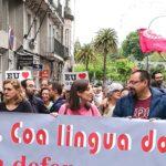 Esquerda Unida reivindica o dereito a vivir en galego