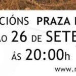 Esquerda Unida súmase ás concentracións diarias en Compostela a favor das persoas refuxiadas