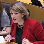 Yolanda Díaz esixe ao Goberno unha actuación urxente para mellorar a liña de tren Ferrol-A Coruña