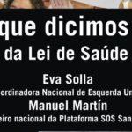 """Eva Solla e Manuel Martín impartirán en Vigo o coloquio: """"Por que dicimos NON á reforma da Lei de Saúde de Galicia"""""""