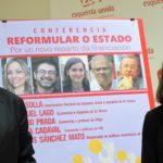Eva Solla e Manuel Lago presentan o coloquio que terá lugar este xoves en Vigo sobre un novo reparto de financiación