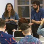 Vanessa Angustia, Marcos Cal e Cristina Palacios debaten en Lugo sobre a situación e as propostas de protección para os menores transexuais en Galicia, co motivo do Día do Orgullo LGTBI
