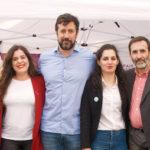 Vanessa Angustia e Eva Solla arroupan á candidatura de Podemos-EU Son En Común Pontevedra