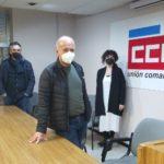 Esquerda Unida de Ferrol mantén unha xuntanza con CC.OO. e amosa o seu apoio á folga do 10 de marzo