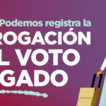 A aprobación da proposición de lei presentada no congreso por UP para derrogación do voto rogado beneficiaría a máis de 460.000 galegos e galegas emigradas